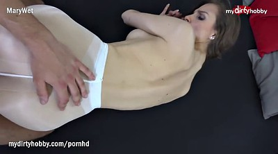 Pantyhose, German creampie
