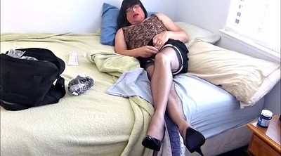 Nylon, Nylon masturbation, Skirt, Bobbi