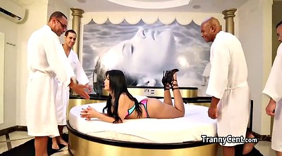 Bukkake, Shemale gangbang, Big butt latina