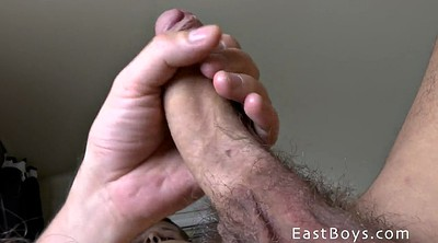 Eating, Young gay, Public handjob
