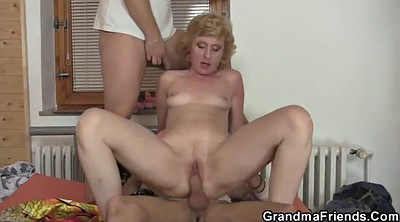 Old lady, Delivery, Wife share, Old threesome, Young wife, Wife sharing