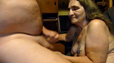 Granny handjob, All over