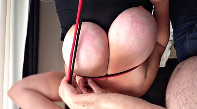 Big nipples, Tied, Breast bondage
