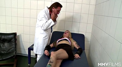 Doctor, Milf bbw, Examination, Young blonde, German blonde, Old doctor