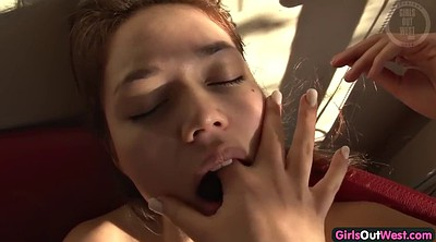 Young, Masturbating together, Lesbian orgasm, Couple orgasm, Young couple, Amateur orgasm