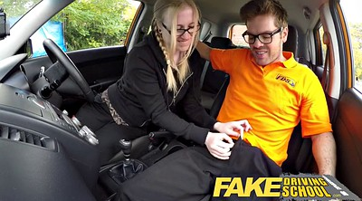 School, Teen creampie, Fake driving