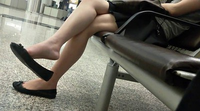 Shoeplay, Asian feet, Feet fetish, Candid, Asian foot fetish