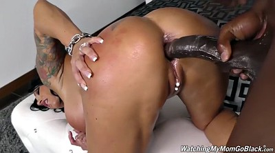 Ebony anal, Mature anal interracial