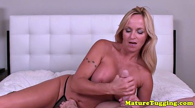 Mature handjob, Jerking