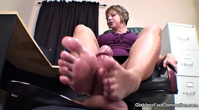 Footjob, Under table