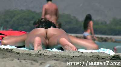 Nudist, Nude beach, Public caught