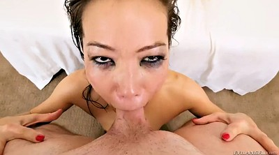 Asian fisting, Double fist, Deep throat swallow, Asian fist, Kalina ryu, Double fisting