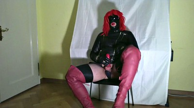Gloves, Crossdresser, Crossdressing, Glove, Gloves handjob, Cock milking