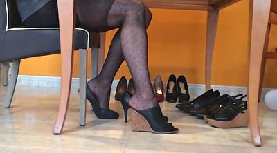 Pantyhose, Nylon foot fetish, Fetish nylon, Dangling, Black pantyhose, Nylon pantyhose