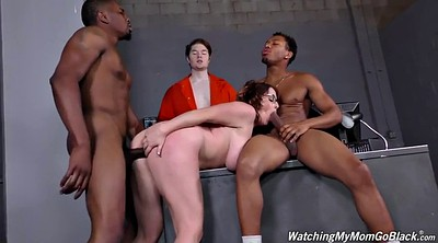 Threesome, Maggie green, Mature facial, Chubby ebony, Mature cuckold, Maggie