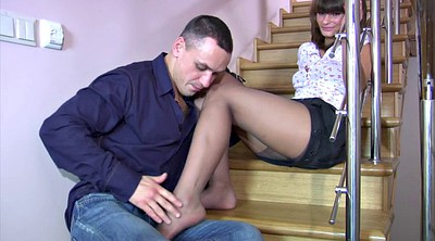 Foot job, Foot fuck, Pantyhose fuck, Fetish pantyhose, Russian pantyhose, Russian milf