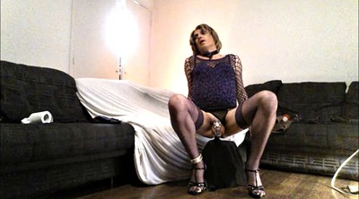 Chastity, Tranny, Solo in heels