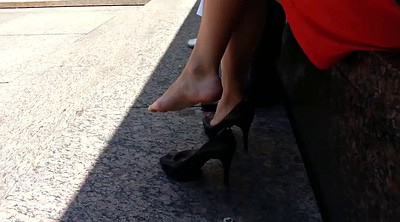 High heels, Sexy soles, Candid, High-heeled shoes, Candid feet, Shoe fetish