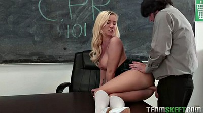 Teacher student, Chubby blonde, Shitting