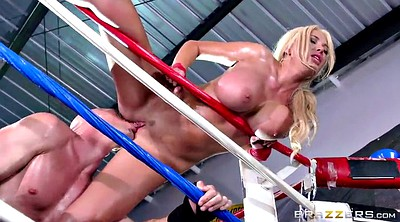 Wrestling, Fight, Busty milf, Wrestle, Cock ring