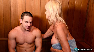 Mature facial, Mature boy, Mature blowjob, Boy granny