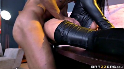 Romi rain, Interracial, Gloves, Leather boots