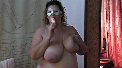Squirt, Bbw solo, Mask
