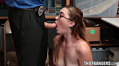 Jail, Teen blowjob, Police, Thief, Pussy lick