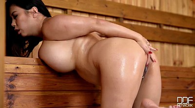 Sauna, Asian bbw, Asian girl
