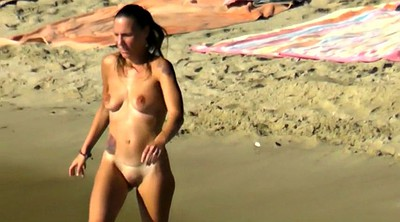 Beach, Saggy tits, Saggy, Mature compilation