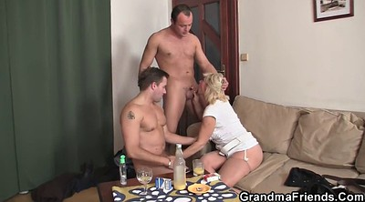 Mature threesome, Old young threesome, Mature double, Granny threesome