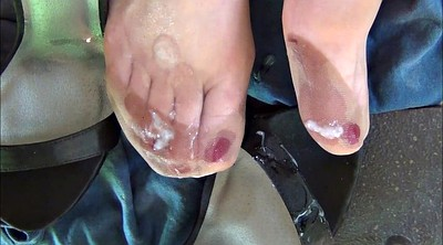 Satin, Stockings, Nylon foot, Nylon feet, Stocking foot, Nylon shoe