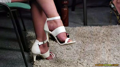 High heels, Three, Three milf, High-heeled