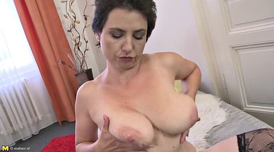 Mom, Hairy mature, Hairy mom, Saggy tits