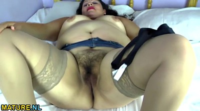 Bbw mature, Undress, Hairy legs, Bbw latina