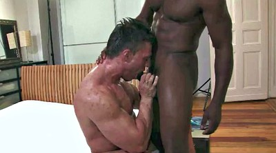 Bodybuilder, Bodybuilding, Black gay, Big white cock