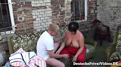 German bbw, Pierced nipples