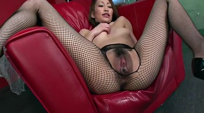 Squirting, Japanese pantyhose, Hairy pussy
