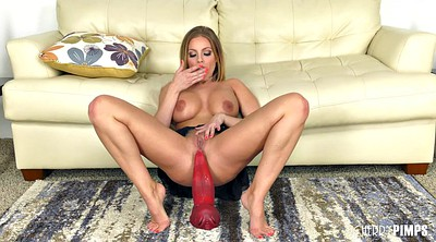 Red, Ride dildo, Britney amber