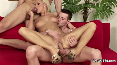 Casting, Czech casting, Two cocks, Threesome casting