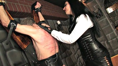 Leather, Mistress, Femdom whipping