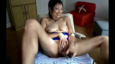 Asian granny, Granny webcams, Granny dildo masturbation