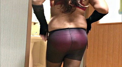 Tight, Red, Bra, Dressing, Blue, Pantyhose cock