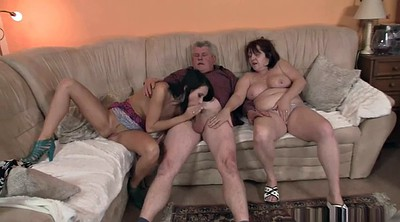 Hot, Old couple, Granny group, Kinky, Fuck son