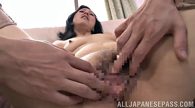 Asian mature, Sofa