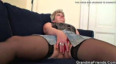 Double, Mature granny, Grandma, Mature threesome, Mature double