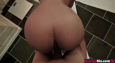 Stepsister, Jordan, Showers, Ebony ass