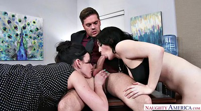 Noelle easton, Jennifer white, Office lesbian, Lesbian office, Angry, Threesomes