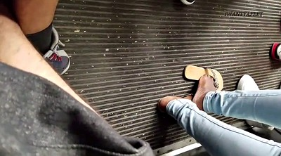 Bus, Candid, Black feet, On bus
