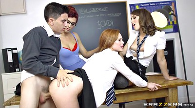 Teacher, Sex doll, Uniform, Outdoor gangbang
